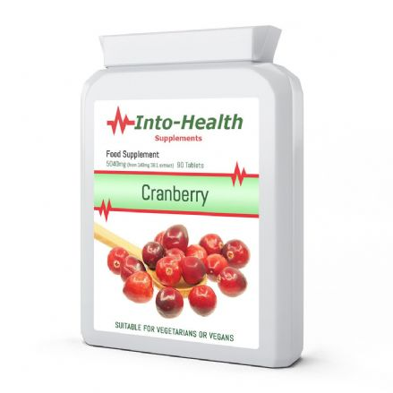 Cranberry 5040mg eq. x 90 Tablets; Vegan; Into-Health